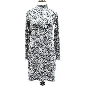Soybu Athletic black white knit sport dress S